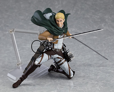 Erwin Smith de Attack on Titan en este impresionante figma articulado.