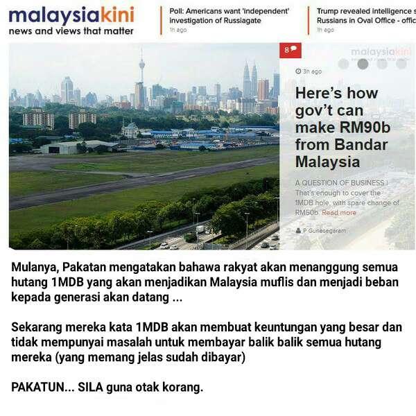 Malaysiakini 'U-turn' Kata 1MDB Akan Membuat Keuntungan Yang Besar?