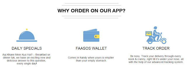 Faasos App features