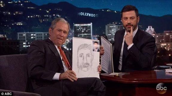 Goerge W. Bush praises Jimmy Kimmel's anti-Trump Oscars opening monologue