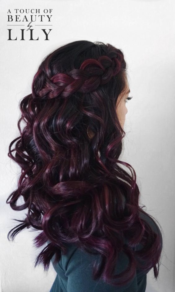 Awesome Hairstyles In Dark Purple Shades The Haircut Web