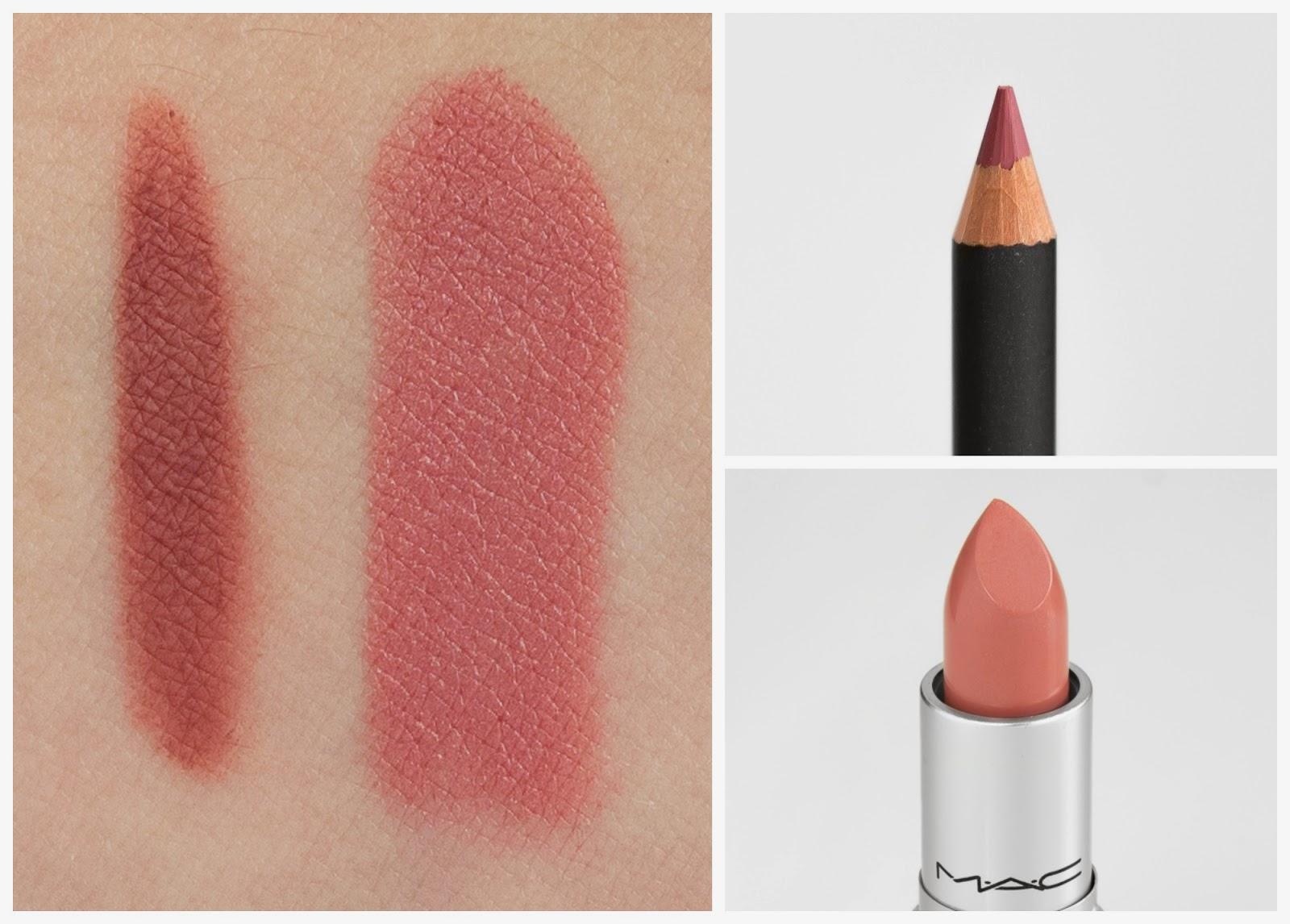 Mac Soar lip liner & Brave lipstick