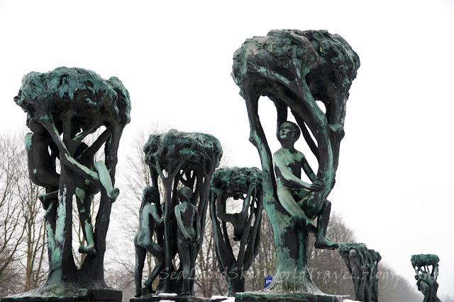 奧斯陸, Oslo, Vigelandsparken scrupture Park, 維格蘭雕刻公園
