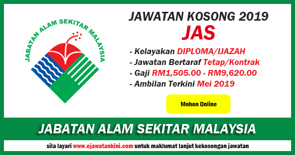 jawatan kosong jabatan alam sekitar malaysia 2019