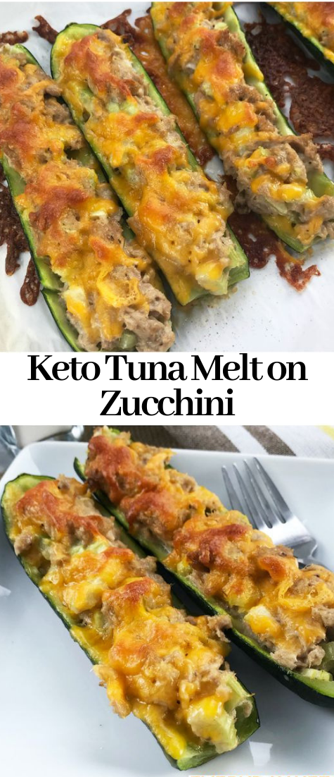 Keto Tuna Melt on Zucchini #healthy #dietketo