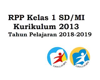 RPP SD KELAS 1 KURIKULUM 2013 SEMESTER 1 REVISI 2018