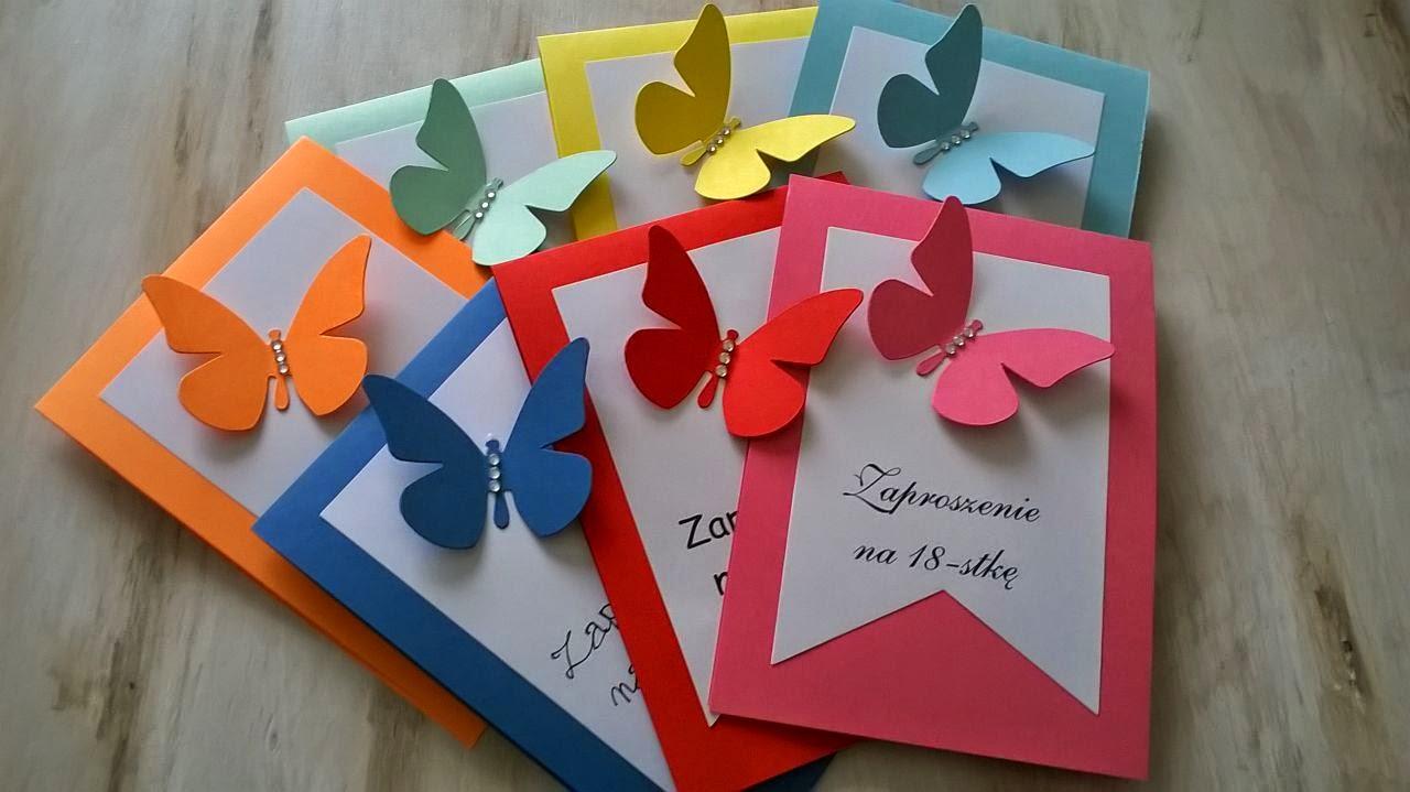 Artpasja Zaproszenia Zaproszenia Urodzinowe Motyle
