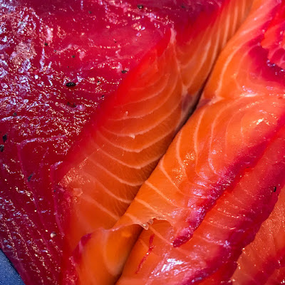 Beetroot and Dill cured Salmon Gravlax - The Grazer