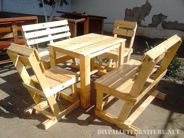 Mueblesdepaletsnet Set De Sillas Y Mesa Para La Terraza