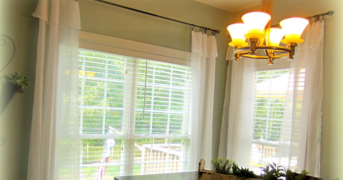 Down To Earth Style White Flowing Curtains Easy And Cheap
