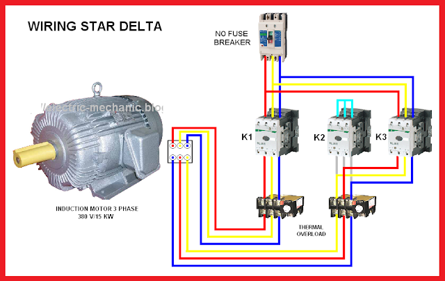 3 Phase Motor Wiring Diagram For A C Star Delta Motor Connection Diagram