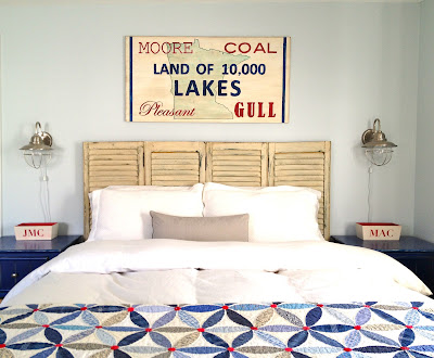 land of 10,000 lakes handpainted sign