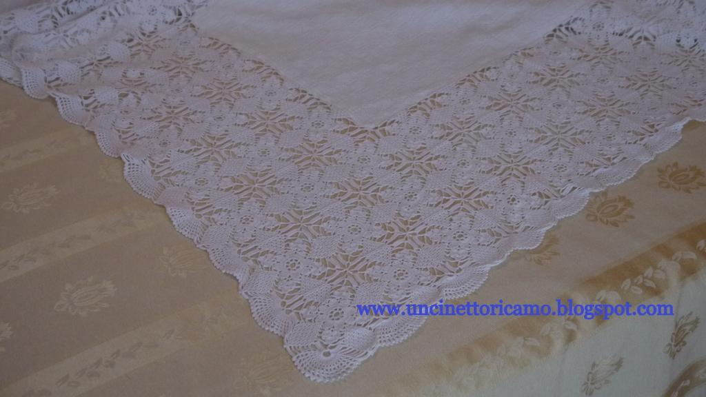 Uncinetto ricamo copriletto uncinetto e lino for Disegni di coperta inclusi