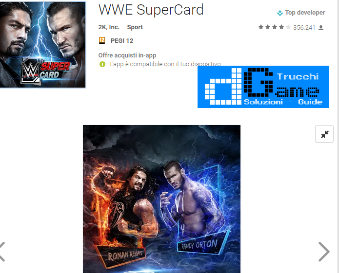 Trucchi WWE SuperCard Mod Apk Android v2.0.0.164753