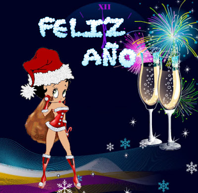 gifs Betty Boop Feliz año nuevo