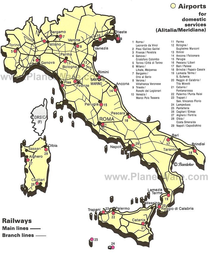 mapa aeroportos italia Cidadania Italiana e Bolsas: Mapas mapa aeroportos italia