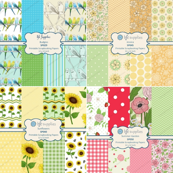Scrapbook paper for Matchbook Notebooks hazelfishercreations