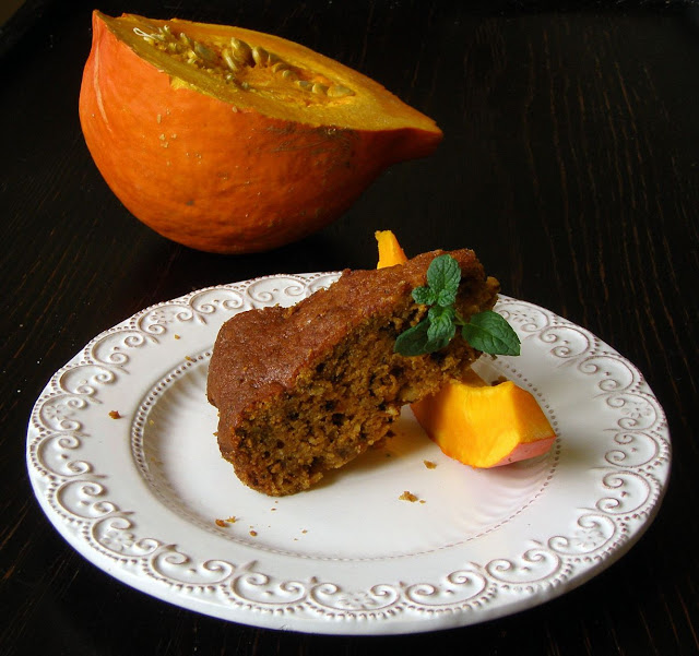 dynia Ciasto dyniowo-jabłkowe z płatkami owsianymi