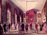 A drawing room at St James' Palace from The Microcosm of London (1808-10)