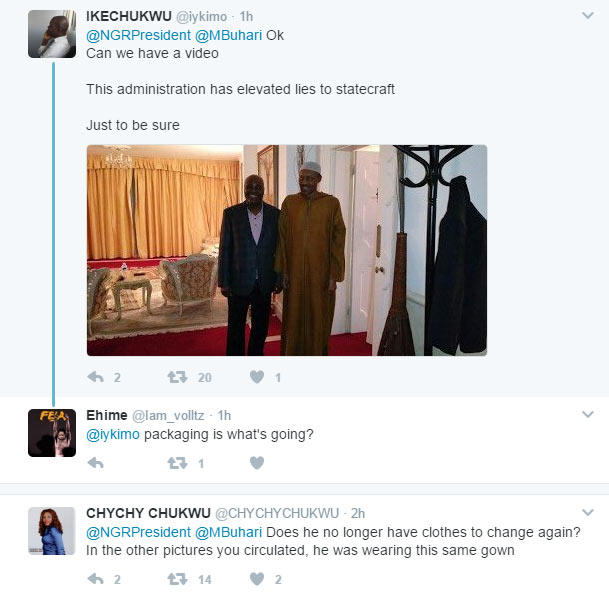 Photoshop or real? Nigerians argue over pictures of Buhari & Tinubu in London