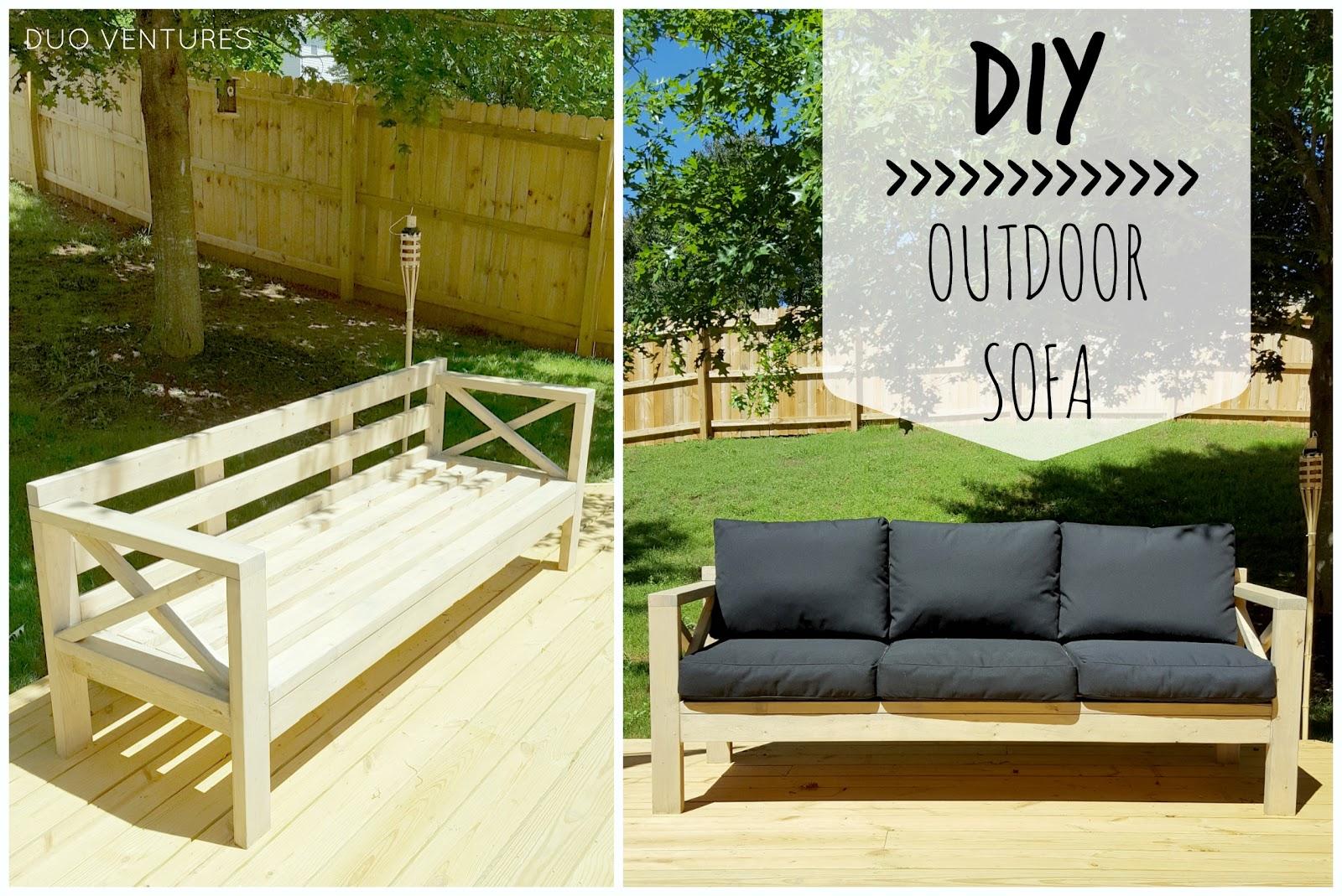 Duo Ventures: DIY Outdoor Wood Sofas