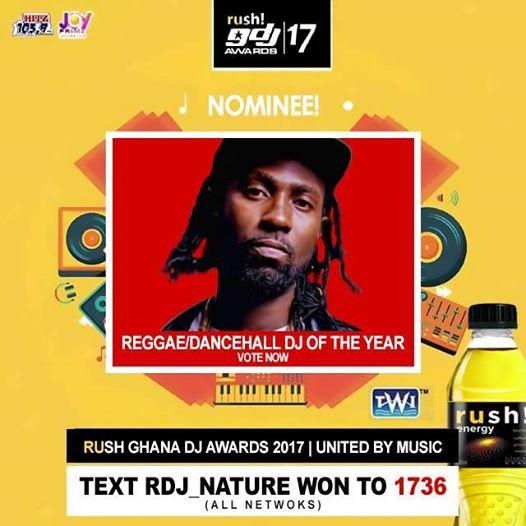 """Vote Campaign] Vote DJ Nature Won Up To Win """"Best Reggae"""