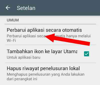 update playstore