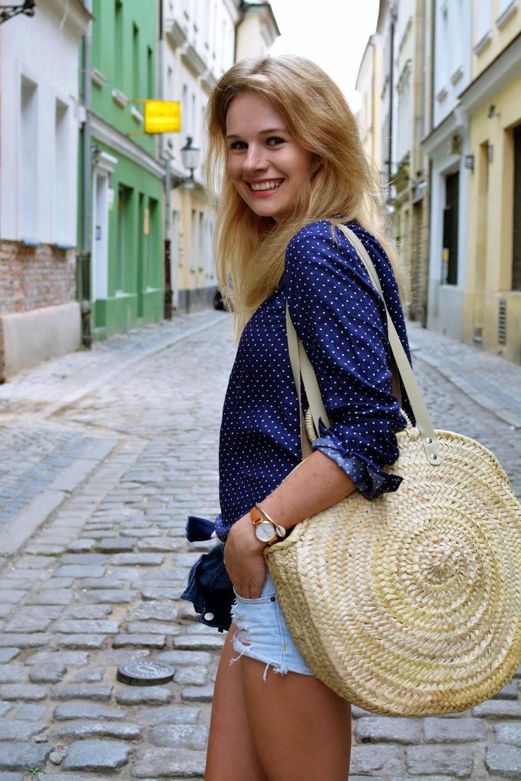 basket bag, kosz, koszyk, round basket, kamila libelula bag, blog, blogger, poznan, okragly koszyk
