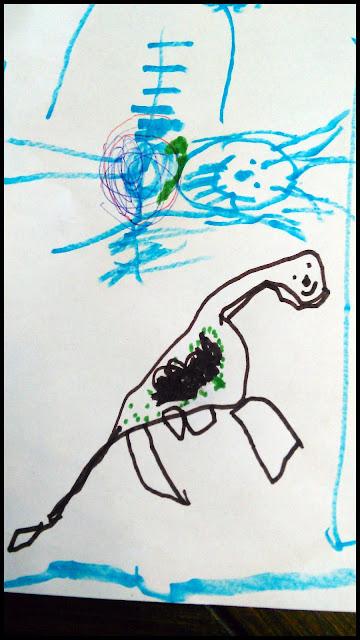 dessin enfant dinosaure