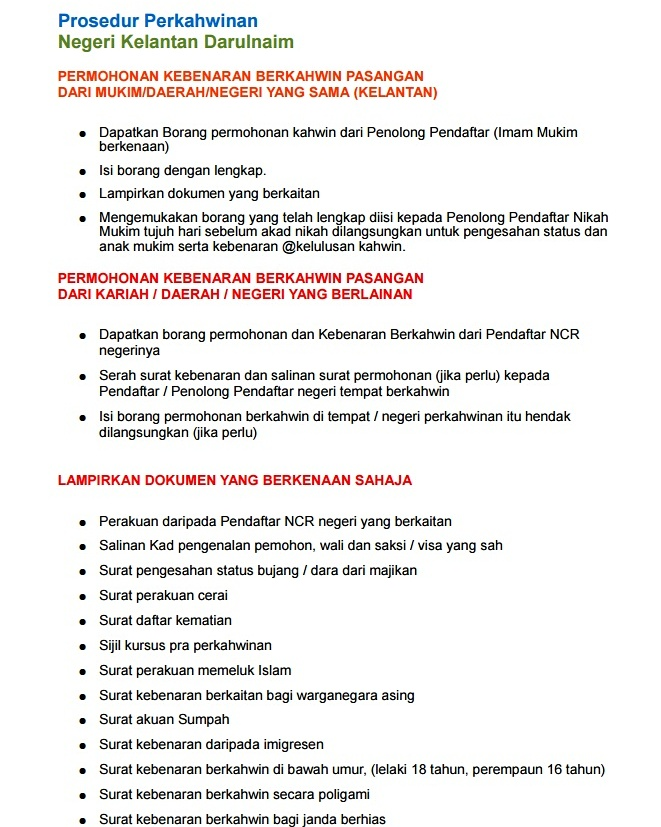 Baarakallaah Prosedur Pernikahan Negeri Johor