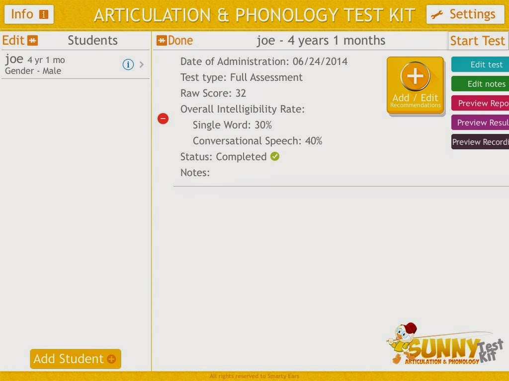 Sunny Articulation & Phonology Test Kit: a Review | Old