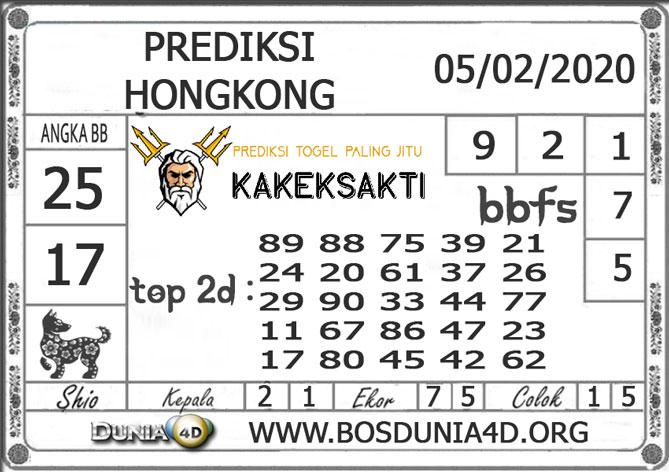 Prediksi Togel HONGKONG DUNIA4D 05  FEBRUARI 2020