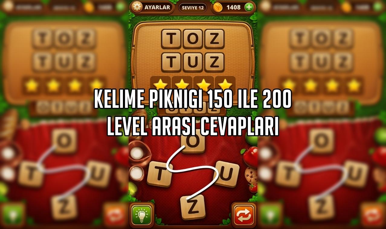 Kelime Pikniği 150 ile 200 Level Arasi Cevaplar
