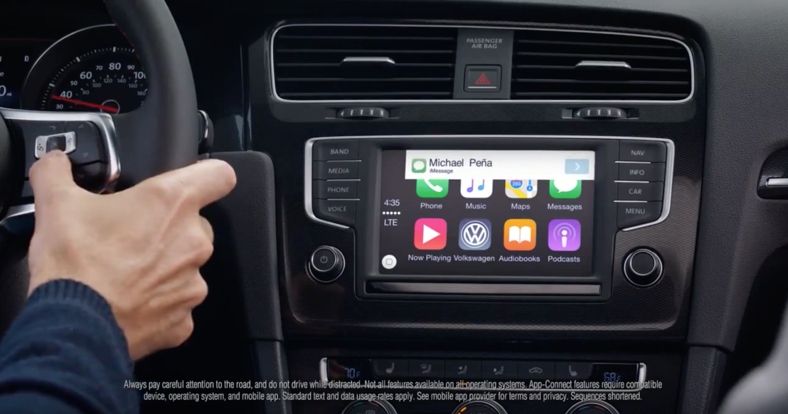 appradioworld apple carplay android auto car technology news volkswagen uses carplay to. Black Bedroom Furniture Sets. Home Design Ideas