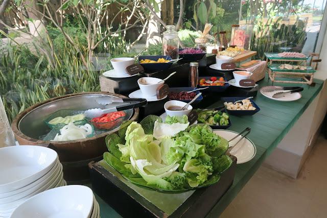 salad bar, at yaiya resorts, hua hin, thailand