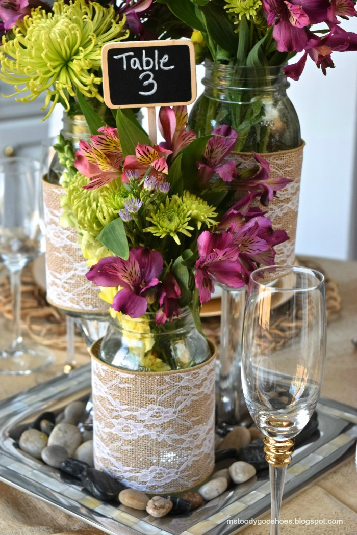 diy mason jar wedding centerpieces a little claireification. Black Bedroom Furniture Sets. Home Design Ideas