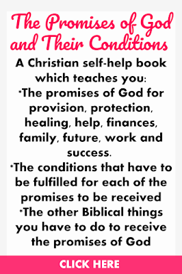 The Promises of God and Their Conditions is a Christian self-help book which teaches you the promises of God for provision, protection, healing, help, finances, family, future, work and success as well as the conditions you have to be fulfill to receive each of these promises.