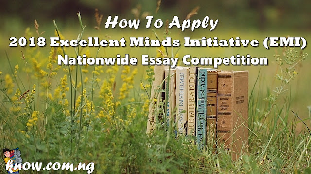 How To Apply For The 2018 Excellent Minds Initiative (EMI) Nationwide Essay Competition