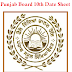 Punjab Board 10th Date Sheet 2018 | PSEB 10th Class Time Table March 2018