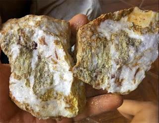 quartzo aurífero