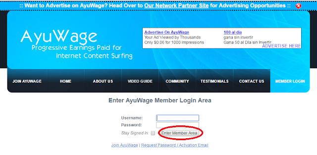 Login menggunakan username anda