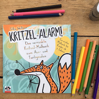 Kritzelalarm Thekla Verlag Ausmalen Kritzeln schönes Kindermalbuch