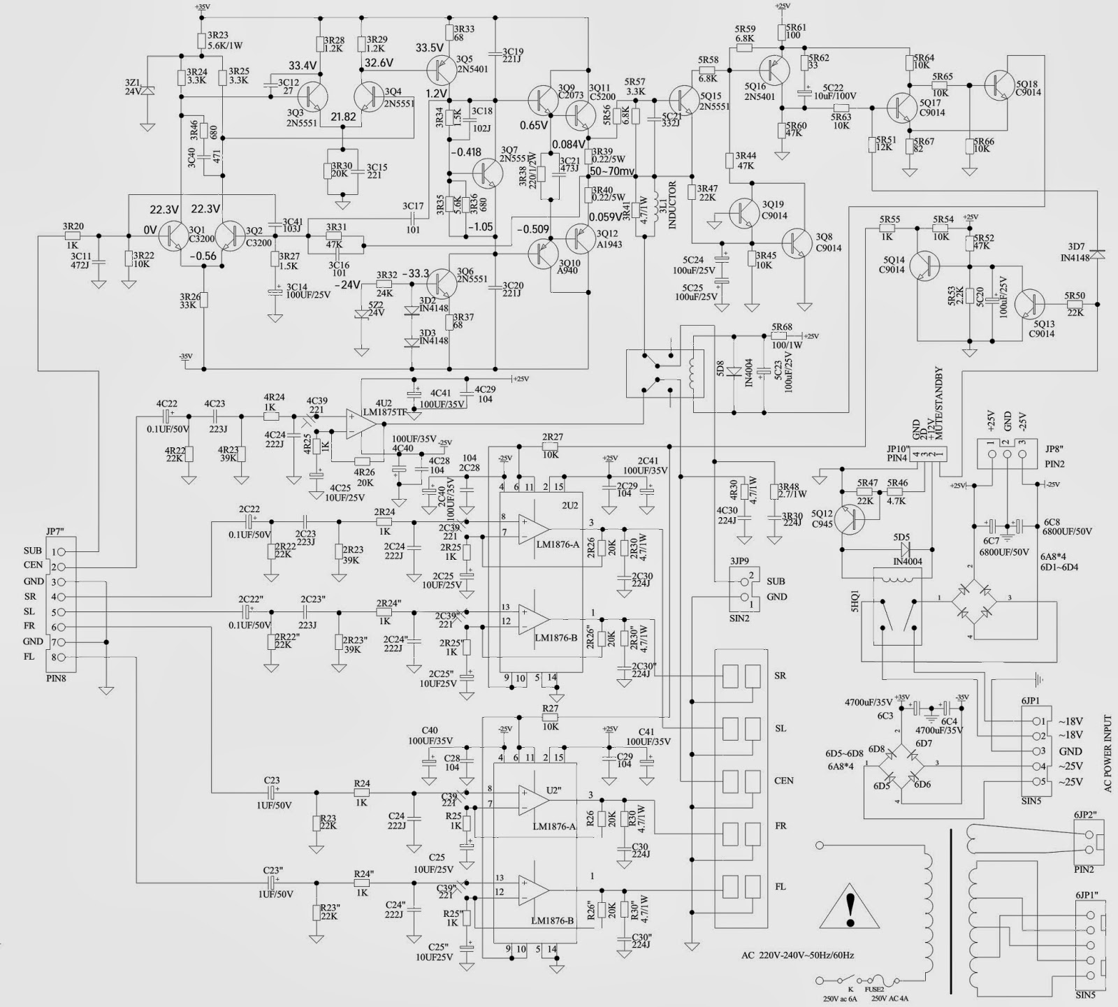 5 1 Surround Sound Schematic Diagram Speaker Circuit Amplifiercircuit Seekiccom Microlab Audio X 10 51