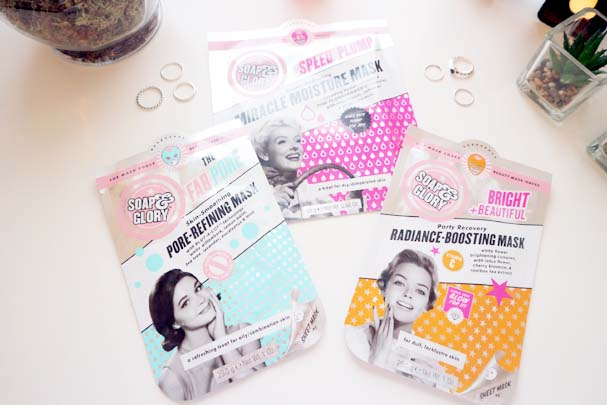 Soap and Glory Sheet Masks | The Beauty is a Beast