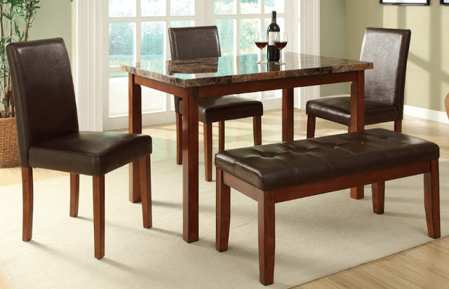 Beautiful Black Leather Dinette Sets