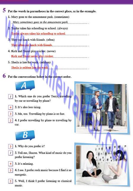 8. Sınıf İngilizce Tutku Yayınları Çalışma Kitabı Cevapları Sayfa 15