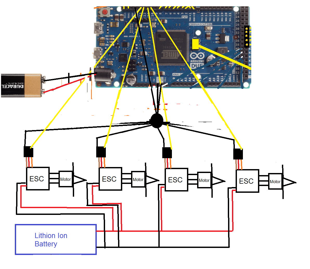Quadcopter Schematic Diagram Push Pull Wiring Design Part 3 Esc And Motor Code