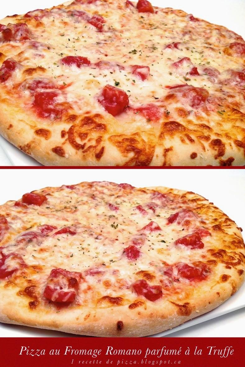1 recette de pizza pizza au fromage pecorino romano parfum la truffe. Black Bedroom Furniture Sets. Home Design Ideas