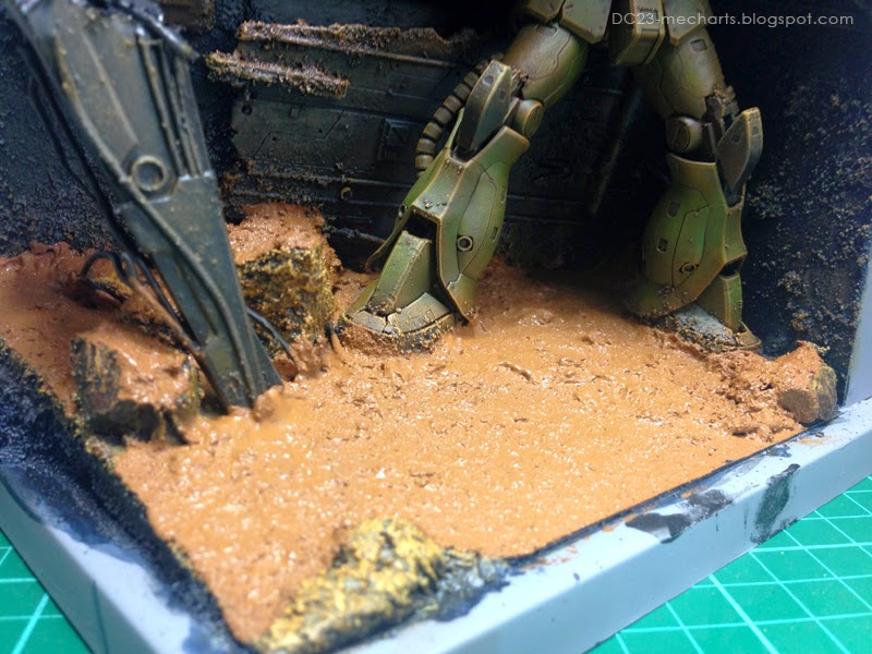 RG Zaku Diorama WIP photo
