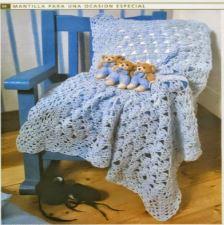 patrones de mantilla bebe